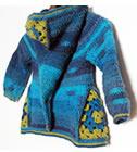 Ermeline hooded cardigan, crochet pattern by Sylvie Damey, http://chezplum.com