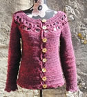 Floralie cardigan, crochet pattern by Sylvie Damey