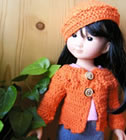 13 inch doll clothes, crochet patterns by Sylvie Damey on http://poupeescheriesdolls.blogspot.fr