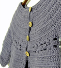 Mini Marguerite cardigan, with daisy motif