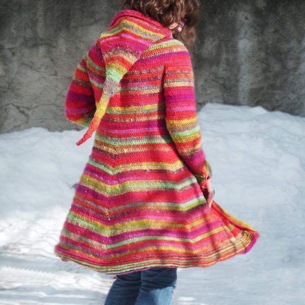 Sylvie Damey New Crochet Pattern Boreal Hooded Coat