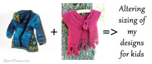how to alter sizes for kids crocheted sweaters